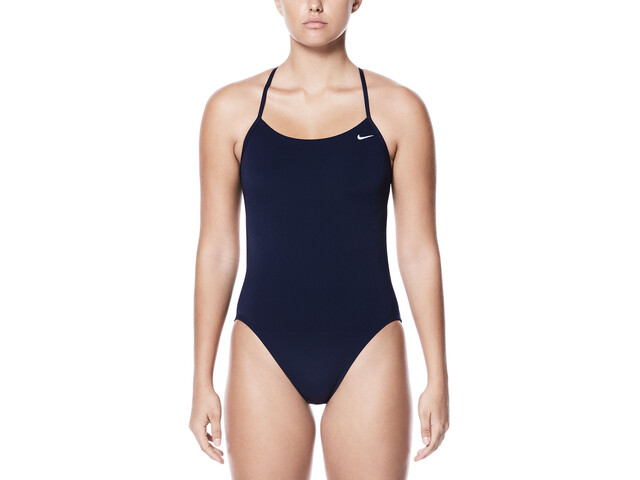 Nike Swim Poly Core Solid Cut-Out One Piece Mujer, midnight navy